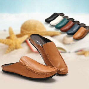 Men's Calfskin Leather Shoes Soft Slippers Driving Casual Loafers Shoes 6 Colors