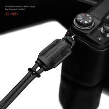 GARIZ Leather Wrist Strap Black XS-WB1 m43 Sony NEX Olympus Lumix Fuji