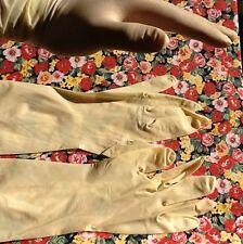 10 Latex Handschuhe (5 Paar), Semi transparent, Größe M?  Ca. 27cm lang, NEU