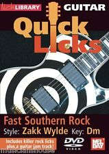 LICK LIBRARY Learn to Play QUICK LICKS ZAKK WYLDE Fast Southern Rock GUITAR DVD