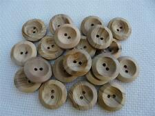 10 NATURAL WOODEN BUTTONS SIZE 30 (18MM) FREE P&P UK