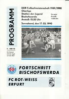 OL 89/90 Fortschritt Bischofswerda - FC Rot-Weiß Erfurt