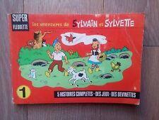 Assez rare Sylvain et Sylvette Super Fleurette N° 1 Histoires complètes, 1968