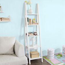 SoBuy® Nouveauté ! Étagère style échelle Bibliothèque-5 étages,Blanc FRG101-W FR