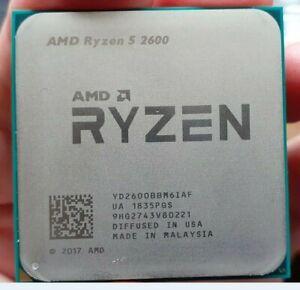 AMD Ryzen 5 2600 CPU Processor Wraith Stealth Cooler no bent pins not overclock