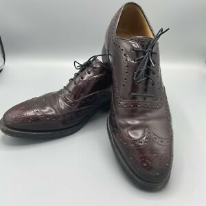 Johnston & Murphy Aristocraft Burgundy Leather Wingtips Mens 8.5