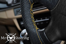 FITS FORD CORTINA MK3 PERFORATED LEATHER STEERING WHEEL COVER YELLOW DOUBLE STCH