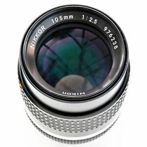 Nikon Nikkor 105mm f/2.5 AIS Super Sharp Lens. Mint-. Tested. see Test Images
