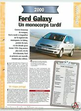 Ford Galaxy 2.8 24V Monospace V6 2000 USA Car Auto Voiture FICHE FRANCE