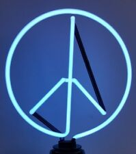Peace Sign Neon Sign Table Lamp 35 cm tall(includes UK power adaptor)