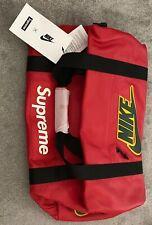 Supreme x Nike (Genuine Leather) Duffle Bag In Red Brand New