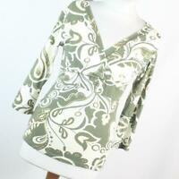 West One Green Floral Womens Top Size 10