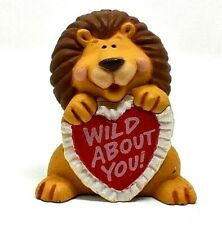 Rare 1991 Hallmark Wild About You Lion wHeart Merry Miniature Ornament Valentine