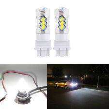 2PCS 3157 15SMD 5730 White LED bulbs Super Bright - 3156 3057 3056 4157