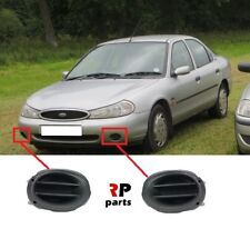 FOR FORD MONDEO MK2 1996-2000 NEW FRONT BUMPER FOGLIGHT COVER PAIR SET BLACK