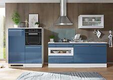 Küche Küchenblock blau weiss tiefgezogen hochglanz / weiss matt Woody 32-00235