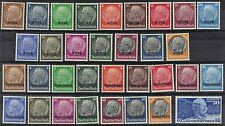 GERMANY 1920 40's HINDENBERG STAMPS WITH OVPTS HINGED