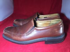 ECCO Men's Driving Moccasin Loafer Brown Leather Shoe Size 42 / US 8~8.5