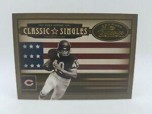 Gale Sayers 2005 Donruss Classics Classic Singles #9 Gold Card serial # 1/250 !