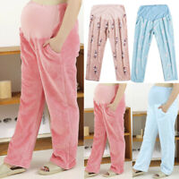 Women Pregnant Maternity Warm Furry Legging Loose Casual Long Pants Trousers 5XL