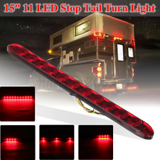 15'' 11 LED Sealed Trailer Stop Tail Turn Third Brake Light Bar 4 Wires 12V