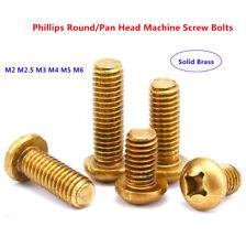 M2 M2.5 M3 M4 M5 M6 Solide Brass Phillips Round / Pan Head Machine Screw Bolts