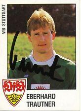 Eberhard Trautner  VFB Stuttgart  1988 Panini Sammelbild signiert - 268643