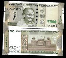 """Rs.500/- Urjit Patel  Star Note """"S"""" Inset  Prefix 4AB  2017 - UNC  LATEST"""