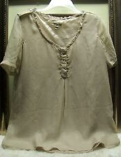 Authentic Burberry Silk Ruffle Top Size S