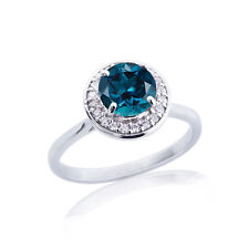 1 Ct Brilliant Round Topaz 14K White Gold Over Stylish Ring For Special Day Gift