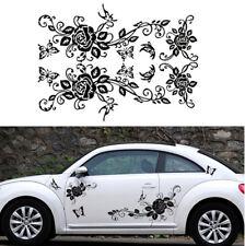 Butterfly Flower Vine Pattern Car Side Door Body Vinyl Decal Sticker Waterproof