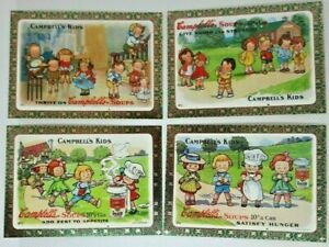 1995 The Campbells Collection Post Cards chase cards set of 4 - Great Condition!
