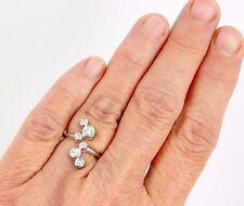 14K .75 Carat SI2 H Diamond Bubbles Ring With European Shank