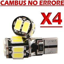 4 Lampade Lampadine LED T10 HID 10 SMD Canbus NO ERRORE 5630 BIANCO Posizione 12