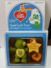 Vintage GOOD LUCK w/ Accessory Care Bear Poseable Figure * MINT In BOX * PVC