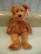 "TY Beanie Babies ""GRIZZWALD"" Plush Golden Brown Bear. 2004. 8"" NEW"