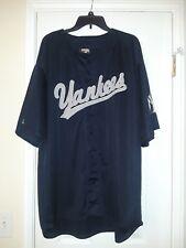 Men Stitches New York Yankees Jersey  2XL Blue