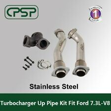 Ford 7.3L Power stroke 99-03 Bellowed Turbo Diesel  Exhaust Up Pipes & Gasket