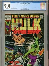 1970 MARVEL INCREDIBLE HULK #125 ABSORBING MAN CGC 9.4 WHITE BOX10