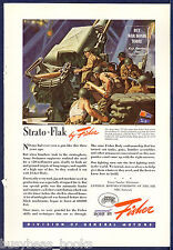 1944 FISHER BODY advertisement, 120mm anti-aircraft gun Army WWII