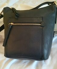 Monsoon Accessorize Real Leather Shoulder Bag Grey Bnwt