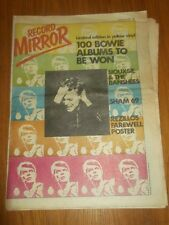 RECORD MIRROR DECEMBER 9 1978 DAVID BOWIE SHAM 69 STRANGLERS BLONDIE JAM SMURFS