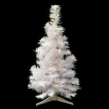 White iridescent Pre-Lit 24 inch Table-Top Christmas Tree / New in Original Box