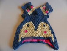 NEXT Mädchen Winter Set Mütze Handschuhe Reh Ohren blau Gr. 98/104 NEU Etikett