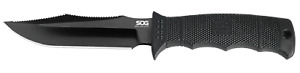 SOG SEAL Pup Elite Fixed Blade Knife  Black Reinforced Nylon E37SN-CP Stainless
