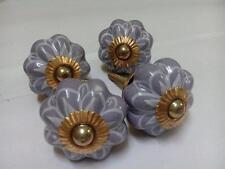 Set of 4 Pcs Indian Handmade Ceramic Door Knobs for Kitchen, Kids Dresser