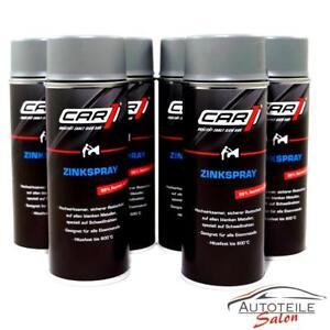6x CAR1®  Zinkspray Rostschutz für alle Eisenmetalle