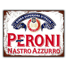 PERONI BEER METAL PLAQUE WALL SIGN print poster retro Advert Bar Man cave