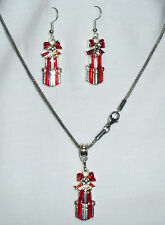 Christmas Gifts Pendant Necklace and Earring Set Handcrated Free Ship within USA