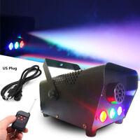 500W Fog Smoke Machine RGB Multi Color LED Light DJ Stage Effect Wireless Remote